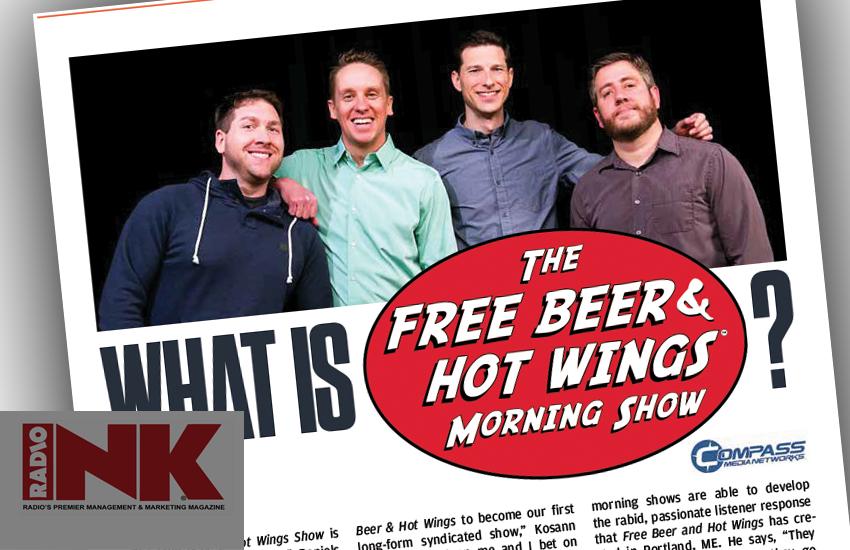 Free Beer & Hot Wings profiled in radio industry trade magazine, RadioINK.