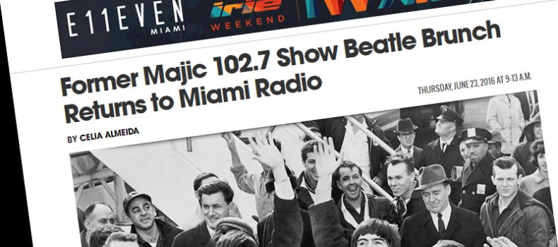 Former Majic 102.7 Show Beatle Brunch Returns to Miami Radio