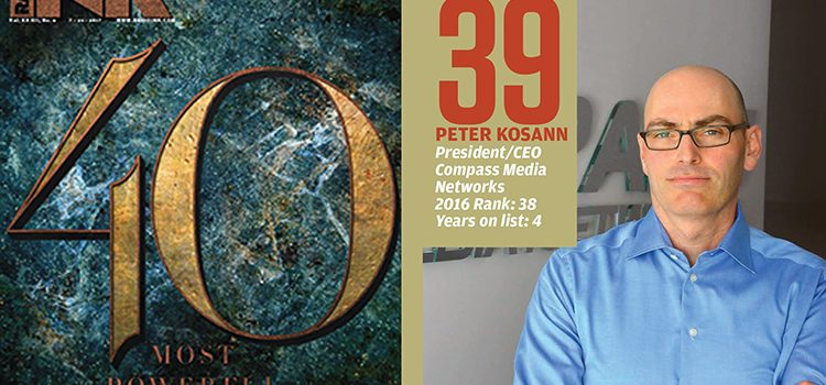 Radio Ink recognizes CEO, Peter Kosann in Top 40 Most Powerful People Issue