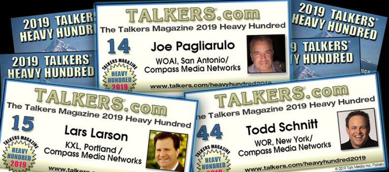 Pags, Larson, Schnitt and Deal featured in 2019 TALKERS Heavy Hundred