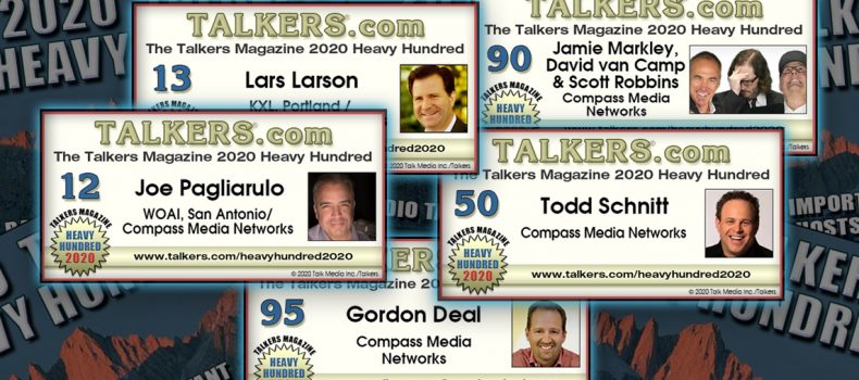 Pags, Larson, Schnitt, MVR, and Deal featured in 2020 TALKERS Heavy Hundred