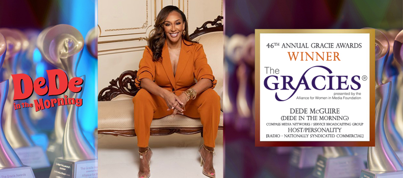DeDe McGuire Wins Gracie Award for Host/Personality in National Syndicated Radio