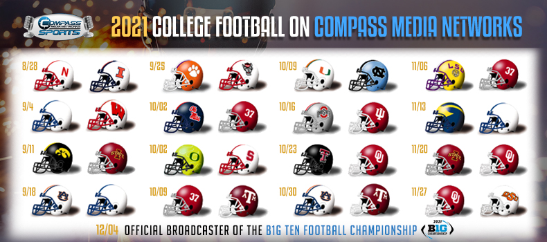 Compass Media Networks Announces 2021 College Football Schedule and Broadcast Talent